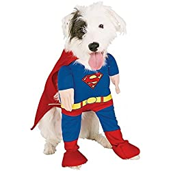 Monkey Cases perro disfraz Superman disfraz para Halloween