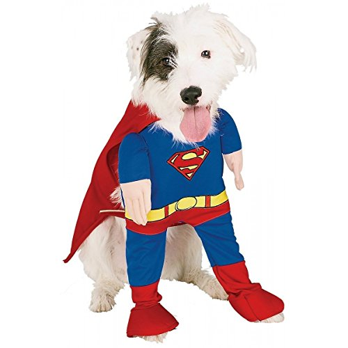Animally -  Hunde Kostuem - Superman-Motiv - Superheld-Outfit - Halloween (S) (Superman Dog Kostüm Große)