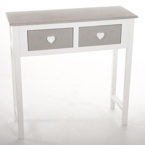 Tavolo consolle 2 cassetti con design in
