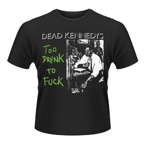 Plastic Head - Dead Kennedys Too Drunk To Fuck (Single), T-shirt Uomo, Nero (Black), Medium