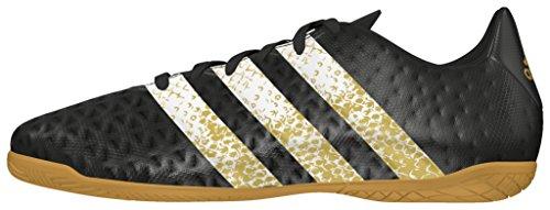 adidas Ace 16.4 In J, Chaussures de Football Garçon Noir (Core Black/ftwr White/gold Metallic)