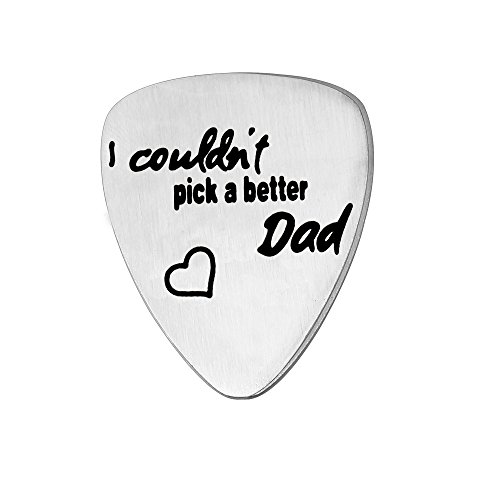 Dad Vater Gitarre Plektrum Geschenke für Vater 's Day Daddy Papa Edelstahl Herz Form Zubehör Werkzeuge