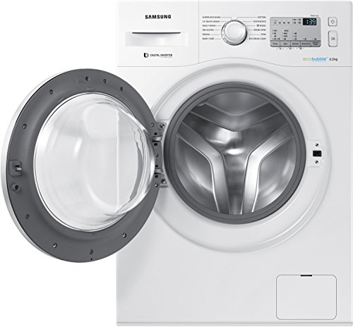 Samsung 6 kg Fully-Automatic Front Loading Washing Machine (WW60M204KMA/TL, White)