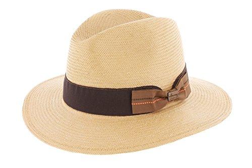 Herman Headwear - Chapeau paille Toyo Duke Tabac Herman Headwear - Beige 61 Homme / Femme