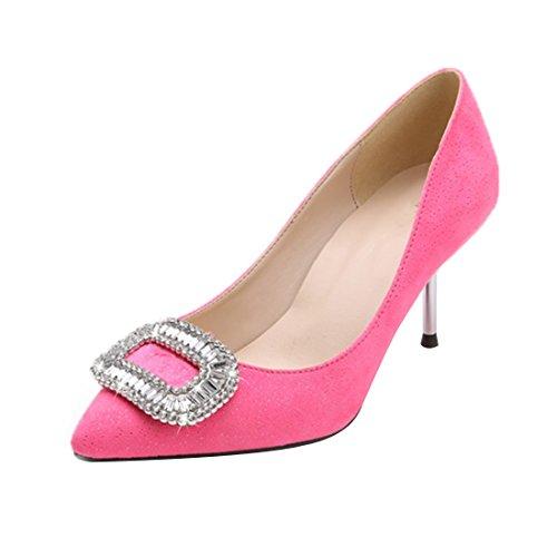 HooH Femmes Bling Diamonds Escarpins T253 Rose