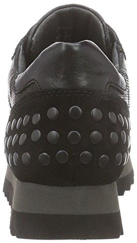 Gabor Gabor Jollys, Sneaker alta donna Nero (Schwarz (schwarz (Nieten) 17))