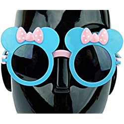 got Mouse ? Runde Sonnenbrille mit klappbarer Front (Blau / Rosa)