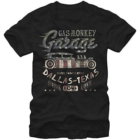 Gas Monkey Garage Flag-Maglietta con grafica, da uomo