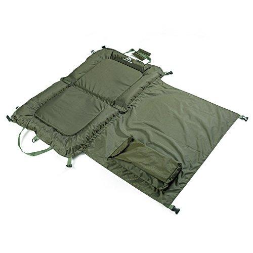 DAY SESSION Beanie Abhakmatte 110 cm x 70 cm mit wasserdicht kniend Pad, grün, 110cm x 75cm