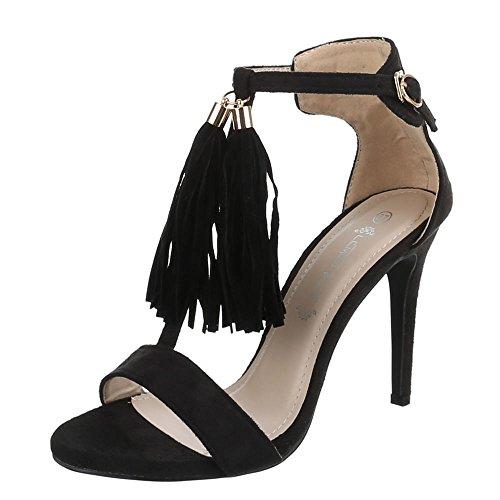 Ital-Design , Sandales femme Noir - Noir