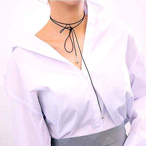 Leaf Halskette Choke, Sun Run Unisex Punk Halskette DIY Kette Halskette Frauen Herren, Silver Beads -