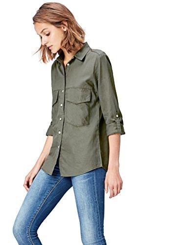 Find camicia leggera donna , verde (olive), 44 (taglia produttore: medium)
