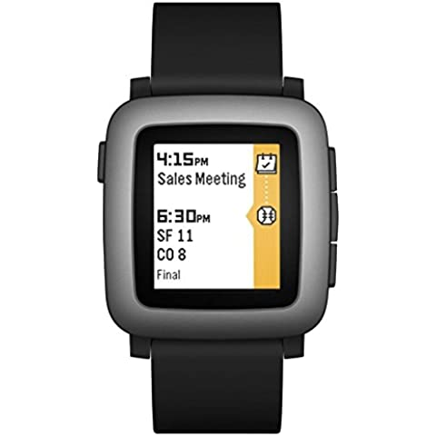 Pebble Time Smartwatch, Nero