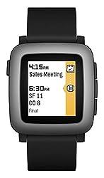 Pebble Time Smart Watch Schwarz