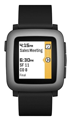 Pebble Time Smartwatch for Smartphone – Black