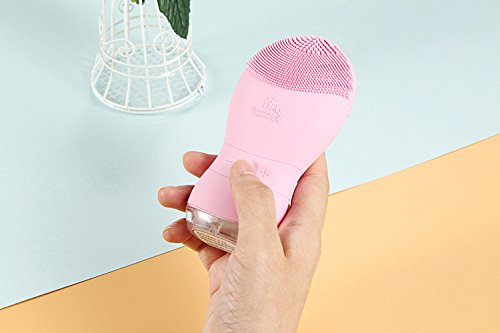 LPWORD Elektrisches Reinigungs-Instrument-Tiefe Saubere Poren Mitesser-Wäsche-Artifakt-Haushalts-Gesichtsmassage-Schönheits-Instrument,Pink (Wäsche-vibration)