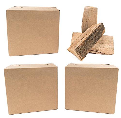 Timber MacPom 3 Pakete Premium- Kamin Brennholz Buche a´10 kg Ofenfertig platzsparend Sauber