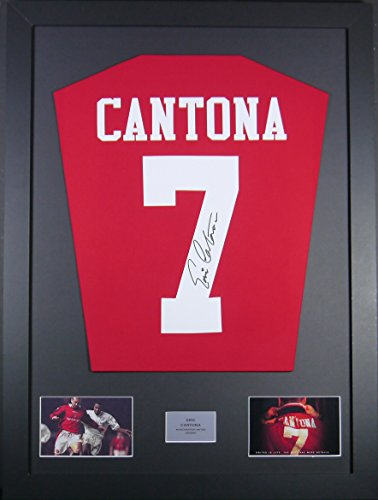 Eric Cantona Manchester United Signed Shirt Framed Display with COA