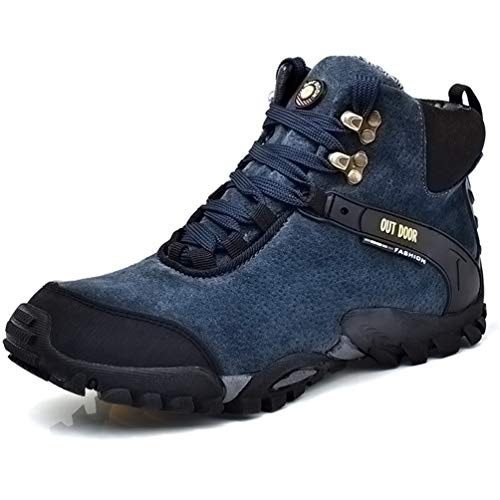 Chaussure Botte de Neige Homme Hiver Boot Souple Garde au Chaud Chaussure de Sport en Plein Air Antidérapant Résistant à l'usure