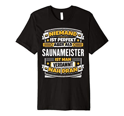 Lustiges Saunameister Geschenk I Sauna Beruf Kollege T-Shirt