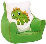 knorr-baby 450303 Kinder Sitzsack 'Drache', grün