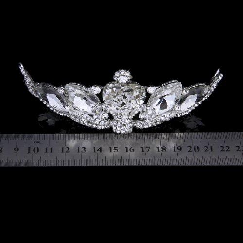 Cristal Tiara Corona Diadema Diamante De Imitación Pavo Real Novia Boda Baile
