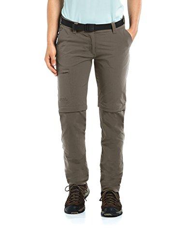 Maier Sports Pantalon Outdoor Convertible en Inara Slim, Teck, 22, 233026