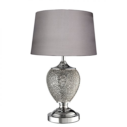 Searchlight MOSAIC TABLE LAMPS - SILVER CERAMIC URN (SINGLE)