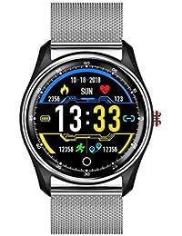 WANGNANA Fitness UhrSmart Watch EKG Blutdruck Pulsmesser Multi-LanguageWaterproof Schwimmen Smartwatch für Männer Frauen