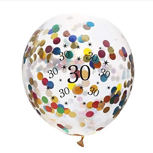 zeit Ballons 10 Stück / 30 cm Latex Konfetti Ballon Party Dekoration Zubehör für Rubin Hochzeit Geburtstag Jahrestag, Latex, Colorful Confetti Balloons, 30 cm ()