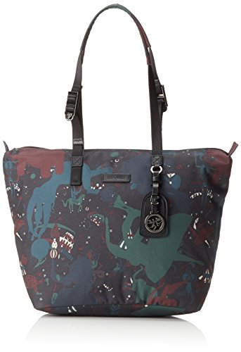 Piero Guidi Magic Circus Camouflage Borsa Tote, 38 cm, Giungla