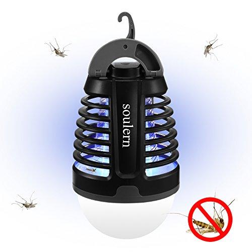 Lanterna da campeggio zanzariera elettrica raggi ultravioletti portatile impermeabile di livello ipx4, 2000mah batteria ricaricabile inclusa, garage, emergenza, perdita di potenza
