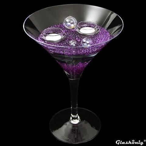 Martiniglas Höhe 30cm Ø 25cm, Dekoglas Martiniglas groß als XXL Glas in ausgefallener Form