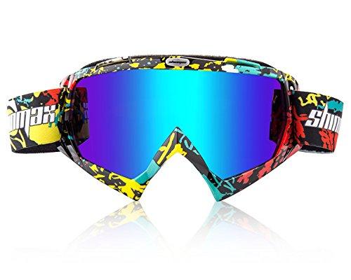 Shinmax Skibrillen Winddicht Brille, Unisex Motocross Sports Snowmobile Snow Skifahren Snowboarding Schutzbrillen, Anti Fog Staub UV, Staub Nachweis Kratzfest Biegbare Winddichte Eyewear Schutzbrillen