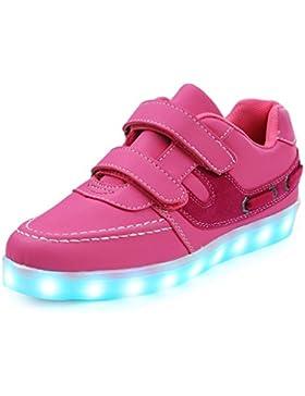 SAGUARO 7 Farben Kind Jungen Mädchen USB Lade LED leuchten Sportschuhe Luminous Flashing Turnschuhe