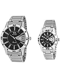 Watch Me Gift Combo Set Of Day And Date Couple Pair Gift Watch Set For 2 DDWM-008-BK-009-BK