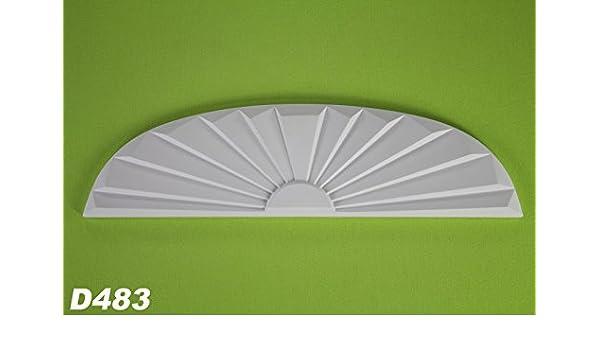 1 Dekorelement für Oberteil Dekor Giebel D481 Stuck stoßfest 135x235mm D484