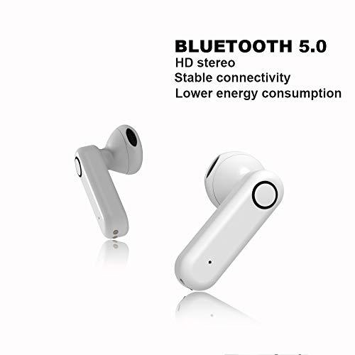 yobola Bluetooth Kopfhörer, Bluetooth 5.0 Kopfhörer 24H Playtime 3D Stereo HD In Ear Wireless Headset mit Mikrofon, Australien, Auto Pairing, kabellose Kopfhörer mit tragbarer Ladehülle - 3