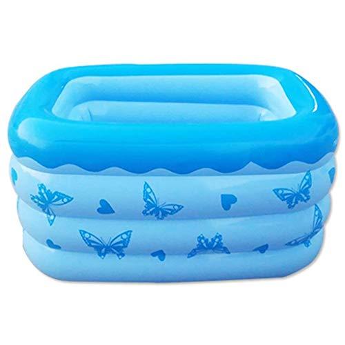Badewanne, Pools Baby-Filled elektrische Pumpe Einfache große Familie von tragbarer Marine-Ball Pool Eindickung Erwachsen-Größe zu falten: 130 * 95 * 68cm Blau Badewannen Aufblasbare Badewanne