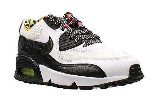 Nike White / Black-Volt-Pink Blast, Chaussures de Sport Garçon weiss