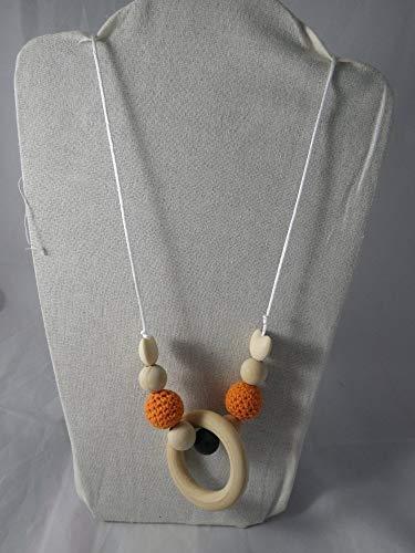 Collier de portage/allaitement orange et marron