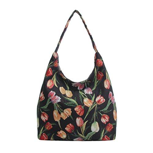 signare-womens-tapestry-fashion-shoulder-bag-hobo-bag-in-tulip-black-design