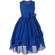 Freebily Vestido de Boda Bautizo Fiesta Graduación para Niña Dama de Honor Vestido Princesa Infantil