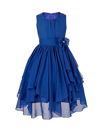 Tiaobug Mädchen Kleid Tüll Schichten Hochzeit Festzug Kleidung Blumenmädchen Kleider 104-164...