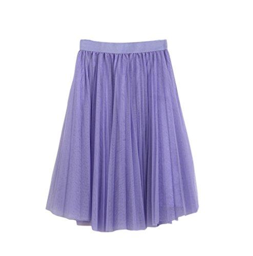 Honeystore Damen's Unterrock 50er Retro Tüllrock Tutu Petticoat Tanzkleid Violett One Size (Diane Furstenberg Damen Von Hose)
