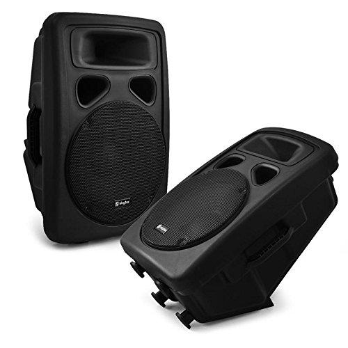 1600 Watt Paar 25cm (10 Zoll) DJ PA Boxen 2x Lautsprecher Outdoor (Dj-setup Mit Lautsprecher)