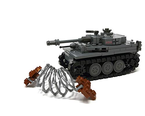 Modbrix 2487 - ☠ Bausteine Tiger Panzer XX Panzerdivison inkl. Custom Elite Wehrmacht Soldaten aus Lego© Teilen ☠ thumbnail