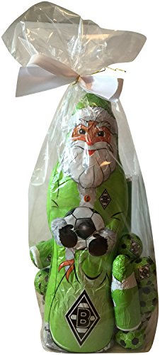 Preisvergleich Produktbild Borussia Mönchengladbach Schoko Geschenk Set (XL Weihnachtsmann, Schokofussbälle, Team Schokolade, Massiv-Weihnachtsmänner)