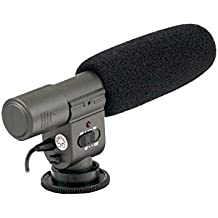 Impulsfoto Microphone directionnel Stéréo avec protection contre le vent pour Canon EOS 700D, 650D, 600D, 550D, 100D, 70D, 60D, 7D, 6D, 5D Mark III, 5D Mark II, 1D X, 1D et M Possibilité de régler l'angle d'enregistrement en 2positions différentes