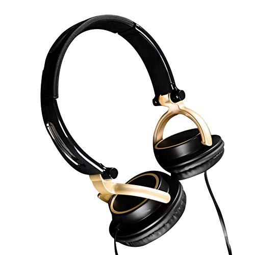Jinclonder Kopfhörer aus Metall mit Mikrofon, Geräuschunterdrückung, Faltbarer Ohrhörer Rosa Ω-serie